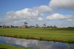 Windmills in Amsterdam Royalty Free Stock Photos