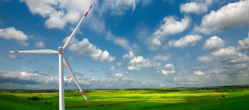 Free Windmills At A Field Stock Photography - 64772802