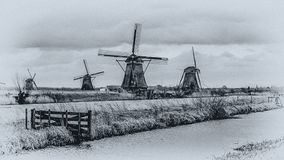 Windmills. Of the beatiful netherlands Royalty Free Stock Photos