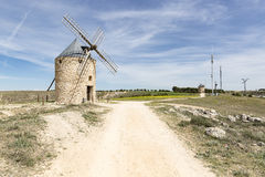 Windmills in Belmonte, province of Cuenca, Castilla La Mancha, Spain Royalty Free Stock Image
