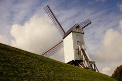 Windmills in Bruges Stock Photography