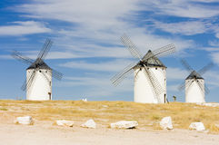 Windmills in Campo de Criptana Royalty Free Stock Images