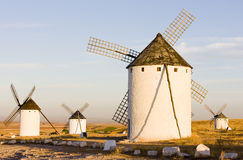 Windmills in Campo de Criptana Royalty Free Stock Photo
