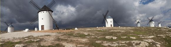 Windmills in Campo de Criptana Royalty Free Stock Photos