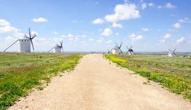 Windmills in Campo de Criptana Stock Photos