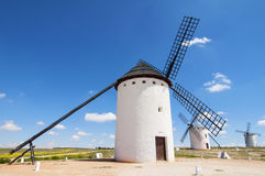 Windmills in Campo de Criptana Stock Photos