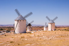 Windmills at Campo de Criptana, Spain Stock Images
