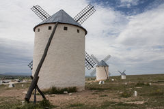 Windmills in Castilla La Mancha Stock Photo