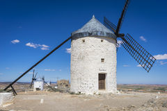 Windmills, cereal mills mythical Castile in Spain, Don Quixote, Royalty Free Stock Photography