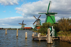 The windmills and channels in museum Stock Images
