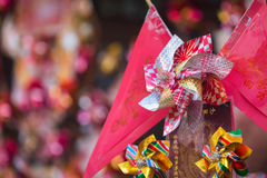 Windmills at Che Kung Temple royalty free stock image