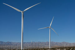 Windmills in the Coachella Valley Royalty Free Stock Image