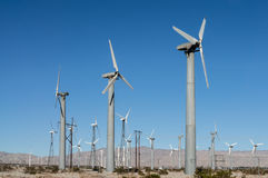 Windmills in the Coachella Valley Royalty Free Stock Photos