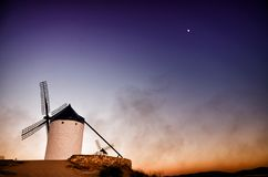 Consuegra is a litle town in the Spanish region of Castilla-La Mancha, famous due to its historical windmills Stock Photo