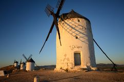 Consuegra is a litle town in the Spanish region of Castilla-La Mancha, famous due to its historical windmills, Chispas is the wind Royalty Free Stock Image