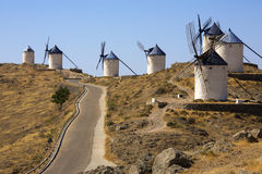Windmills at Consuegra - La Mancha - Spain Royalty Free Stock Photos