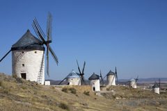 Windmills at Consuegra - La Mancha - Spain Stock Photos