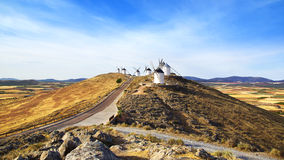 Windmills in Consuegra. Stock Photo