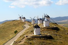 Windmills, Consuegra spain Stock Photos