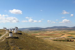 Windmills, Consuegra spain Royalty Free Stock Images