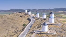 Windmills in Consuegra, Spain. Stock Images
