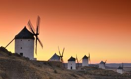 Windmills in Consuegra, Spain. Stock Image