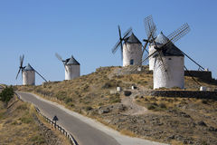 Windmills - Consuegra - Spain. The windmills of Consuegra in the La Mancha region of central Spain Stock Photos