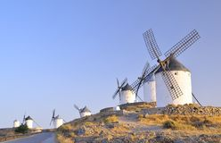 Windmills in Consuegra, Spain. Stock Photography