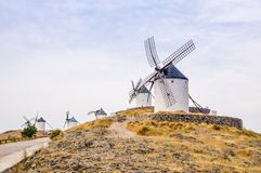 Windmills in Consuegra, Spain Royalty Free Stock Photos