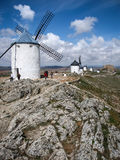Windmills at Consuegra, Spain. Image of Windmills on a hill at Consuegra, Spain Stock Images