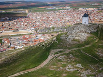 Windmills at Consuegra, Spain. Image of Windmills on a hill at Consuegra, Spain Royalty Free Stock Photography
