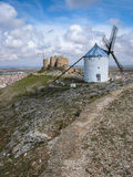 Windmills at Consuegra, Spain. Image of Windmills on a hill at Consuegra, Spain Royalty Free Stock Photo