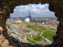 Windmills at Consuegra, Spain. Image of Windmills on a hill at Consuegra, Spain Stock Photography