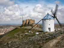 Windmills at Consuegra, Spain. Image of Windmills on a hill at Consuegra, Spain Royalty Free Stock Image