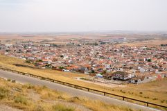 Windmills in Consuegra, Spain. Consuegra in  Spain. Panoramic view Stock Photography