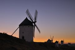 Windmills in Consuegra, Spain. Stock Photos
