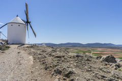 windmills of Consuegra in Toledo City, were used to grind grain Stock Images