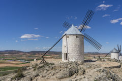 windmills of Consuegra in Toledo City, were used to grind grain Royalty Free Stock Photography