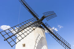 windmills of Consuegra in Toledo, Spain. They served to grind gr Stock Photos