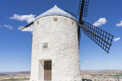 Windmills of Consuegra in Toledo, Spain. They served to grind gr. Ain crop fields Stock Photography