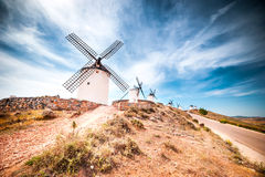 Windmills in Consuegra Stock Images