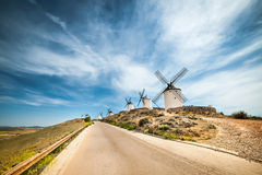 Windmills in Consuegra Stock Photography