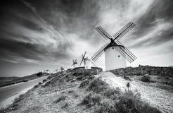 Windmills in Consuegra Stock Photos