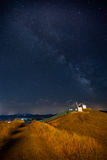 Windmills of Consuegra under Milky Way - La Mancha, Spain Royalty Free Stock Photos