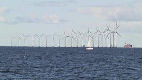 Windmills in Copenhagen stock footage