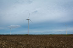 Windmills in the country producing electricity Stock Image