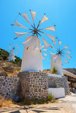 Windmills. Crete, Greece Stock Photography