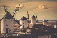 Windmills of Don Quixote. Cosuegra, Spain.  Stock Photography