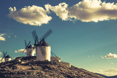 Windmills of Don Quixote. Cosuegra, Spain Stock Photo
