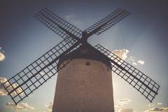 Windmills of Don Quixote. Cosuegra, Spain Royalty Free Stock Photo